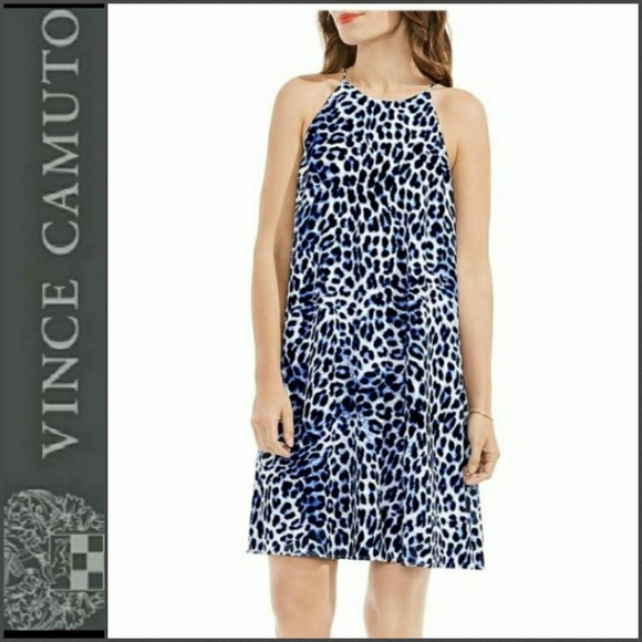 Vince Camuto Dresses & Skirts - 76% OFF!  New VINCE CAMUTO Leopard Crepe Dress